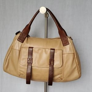 Cynthia Rowley Tan/Brown Genuine Leather Satchel